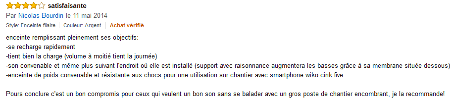 Amazon.fr commentaire client Ryght Y-Storm